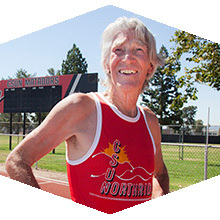 Alumnus Jon Sutherland has ran at least one mile a day for 48 years
