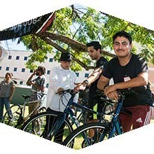 CSUN foster youth students receive free bicycles from Bikes4Orphans.