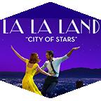 "Actors Emma Stone and Ryan Gosling dance in the Los Angeles night in ""La La Land."""