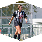Nicole Thompson, former CSUN Women's Soccer star, in a game.