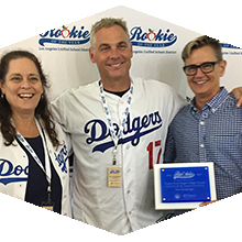 Wes Hambright was honored at Dodger Stadium on August 13.