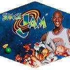 Michael Jordan and Looney Tunes in Space Jam.