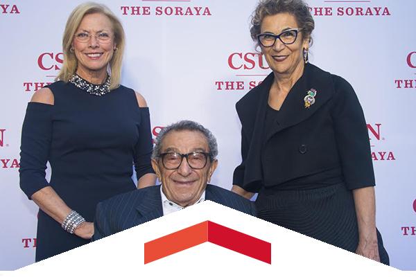 CSUN President Dianne F. Harrison, Younes and Soraya Sarah Nazarian