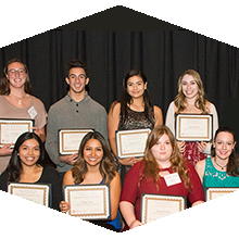 Alumni Scholarship recipients.