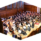 Overhead shot of Moscow State Symphony Orchestra.
