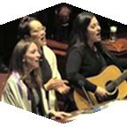 Jewish musicians perform.