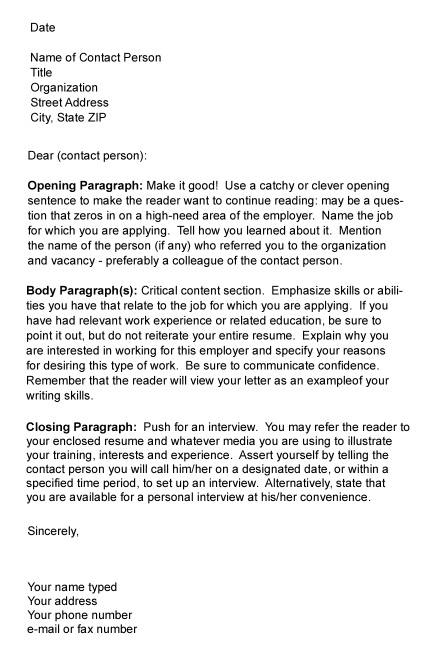 Followup Letter To Job Interview from www.csun.edu