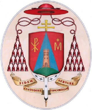 The Coat of Arms of Tarcisio Cardinal Bertone, Cardinal Camerlengo