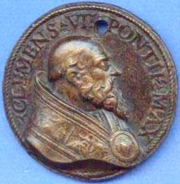 link to page concerning medals of Pope Clement VII (Medici)