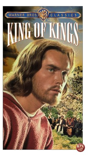 Jeffrey Hunter as Jesus, in _King of Kings_