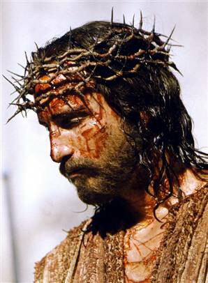 Jim Caviezel as Jesus, in _The Passion of the Christ_