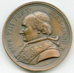 Pope Pius VIII, portrait engraved by G. Girometti