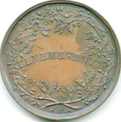 Wreath, with inscription, for merit