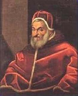 Oil portrait of Pope Sixtus V, seated