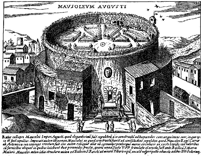 The Mausoleum in the middle ages, when it was a vinyard