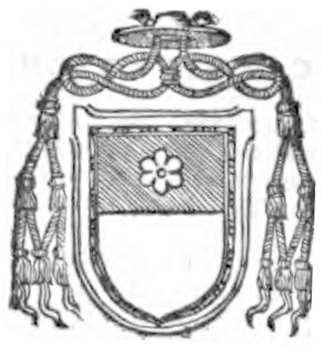 link to page concerning  the Sede Vacante of 1484; Tstemma of Cardinal Riario