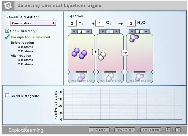 Explore Learning Gizmo Answer Key Balancing Chemical Equations