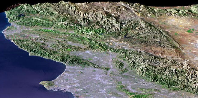 San Andreas Fault From Space Southern Califo...