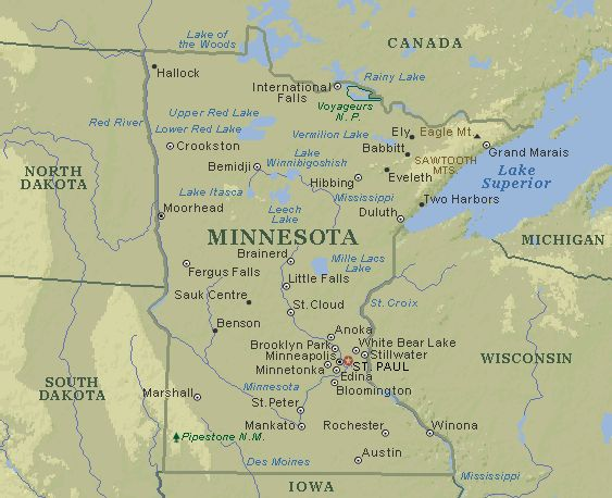 Where is minnesota on the us map