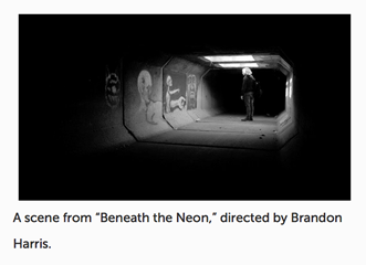 "A scene from ""Beneath the Neon"""
