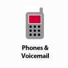 Phones & Voicemail button.