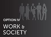 opton IV: work and society-silhouette of workers