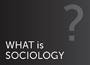 what is sociology button-silhouette of question mark