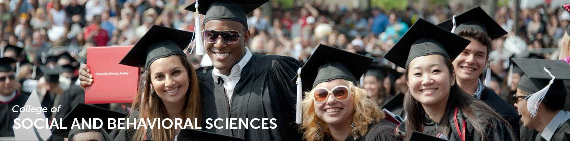 Social and Behavioral Science students at commencement