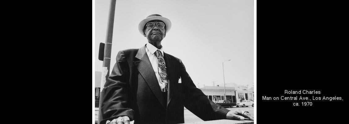 Roland Charles, Man on Central Avenue, Los Angeles, circa 1970