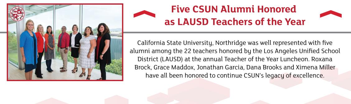 Five Alumni Honored