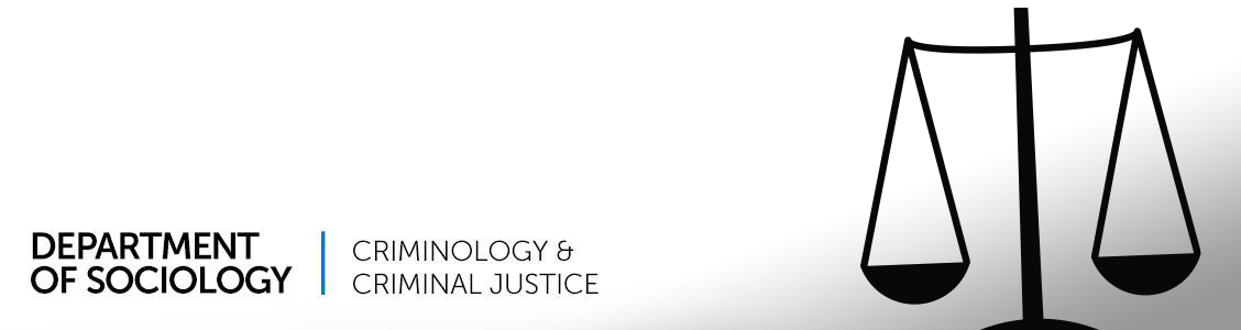 criminology/criminal justice banner - scales of justice