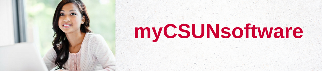 "A student using ""myCSUNsoftware""."