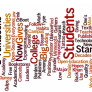 10 Hottest Ed-Tech Stories of 2012 word cloud from The Chronicle of Higher Ed