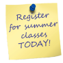 Register for Summer Classes today
